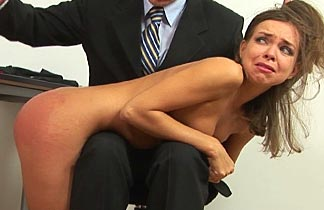 Spanking a woman to orgasm