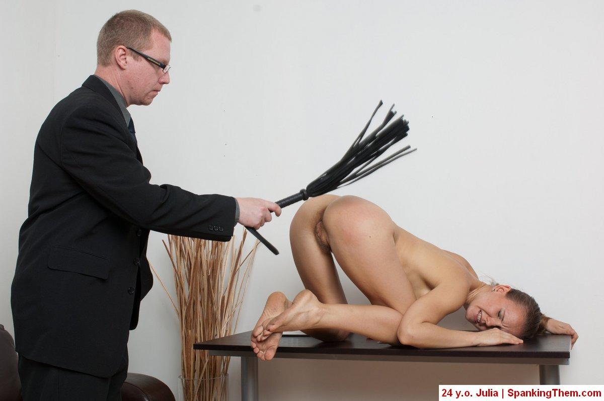 Masturbation office spanking