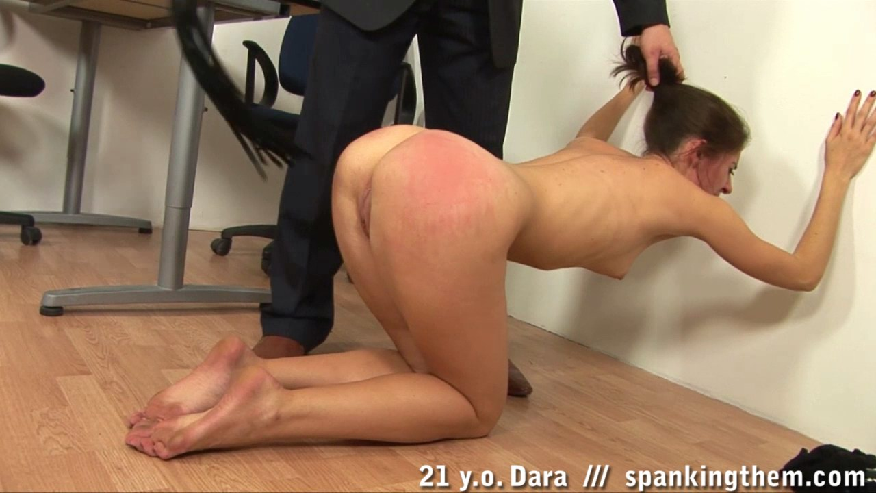 Spanking them ... sorry only after getting her ass really very hard thrashed and where a  boss gets his hand aching after long pain delivering? Watch now at Spanking  Them!